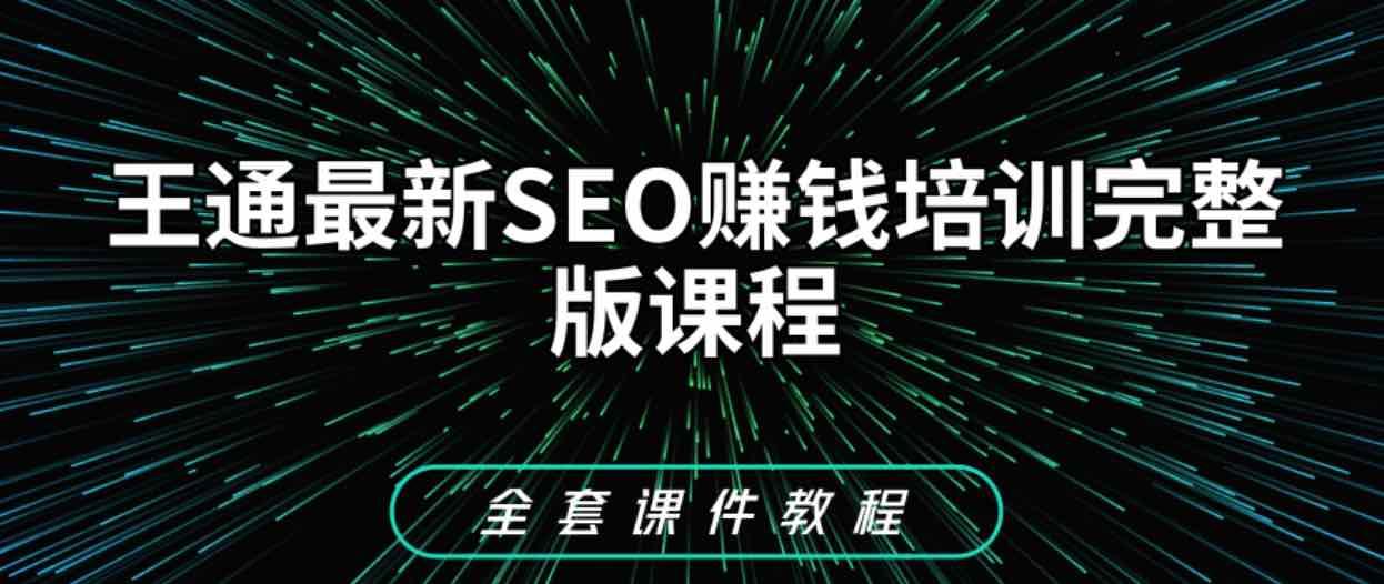 王通SEO教程_SEO赚钱培训教程下载