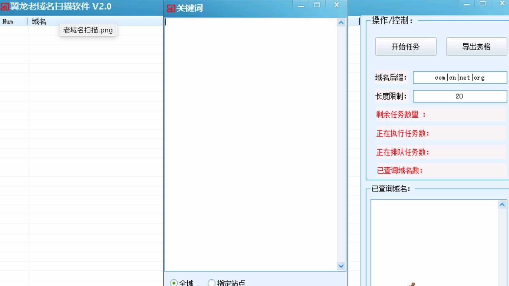 翼龙老域名扫描软件破解版下载