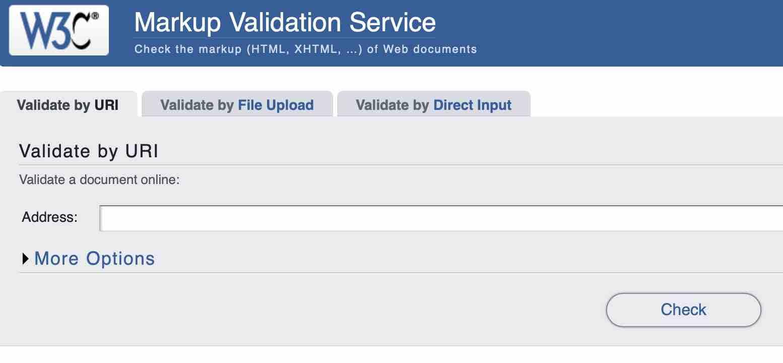 W3C验证工具:在线检测网站是否符合标准